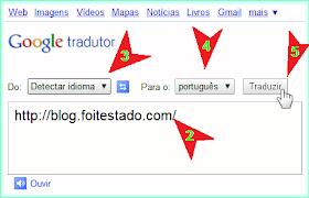 Google tradutor para traduzir texto e páginas de blog e site