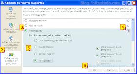 Escolher navegador padrão para web no Windows xp
