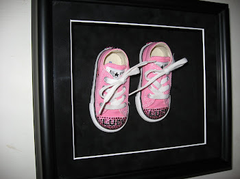 Adorable shadow boxes shoes!