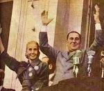 Con Peron y Evita