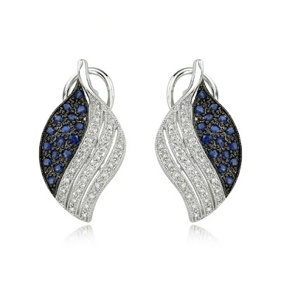 Blue Sapphire Earrings