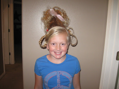 Ideas For Crazy Hair Day For Girls. Today was crazy hair day.