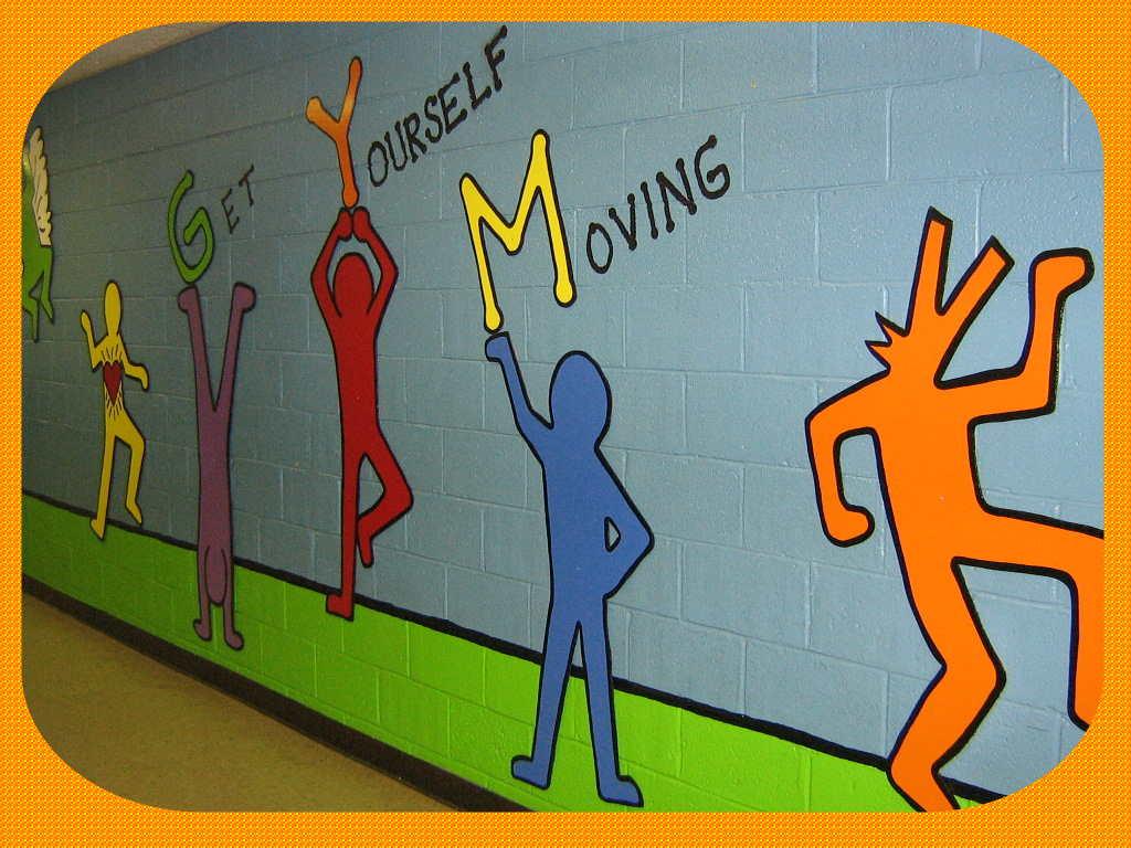 Fun art 4 kids keith haring mural for Mural for kids