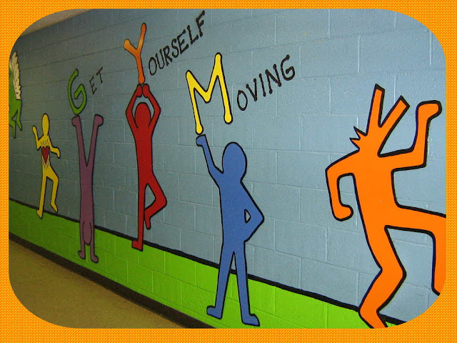 Fun art 4 kids keith haring mural for Elementary school mural ideas