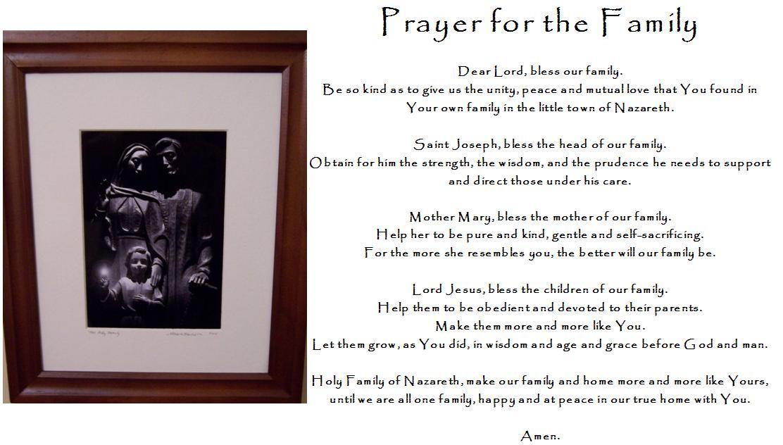 Summary -> Catholic Prayers Prayer For Healing The Family Tree