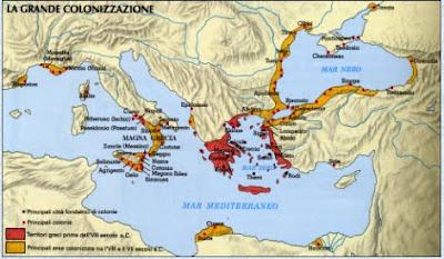 La classe dei balocchi le colonie dell 39 antica grecia for Cartina della grecia antica da stampare