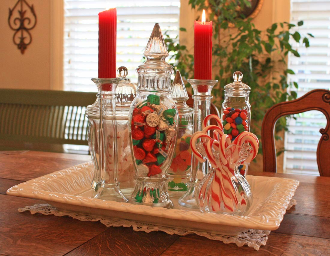 Candy Christmas Table Centerpieces Ideas