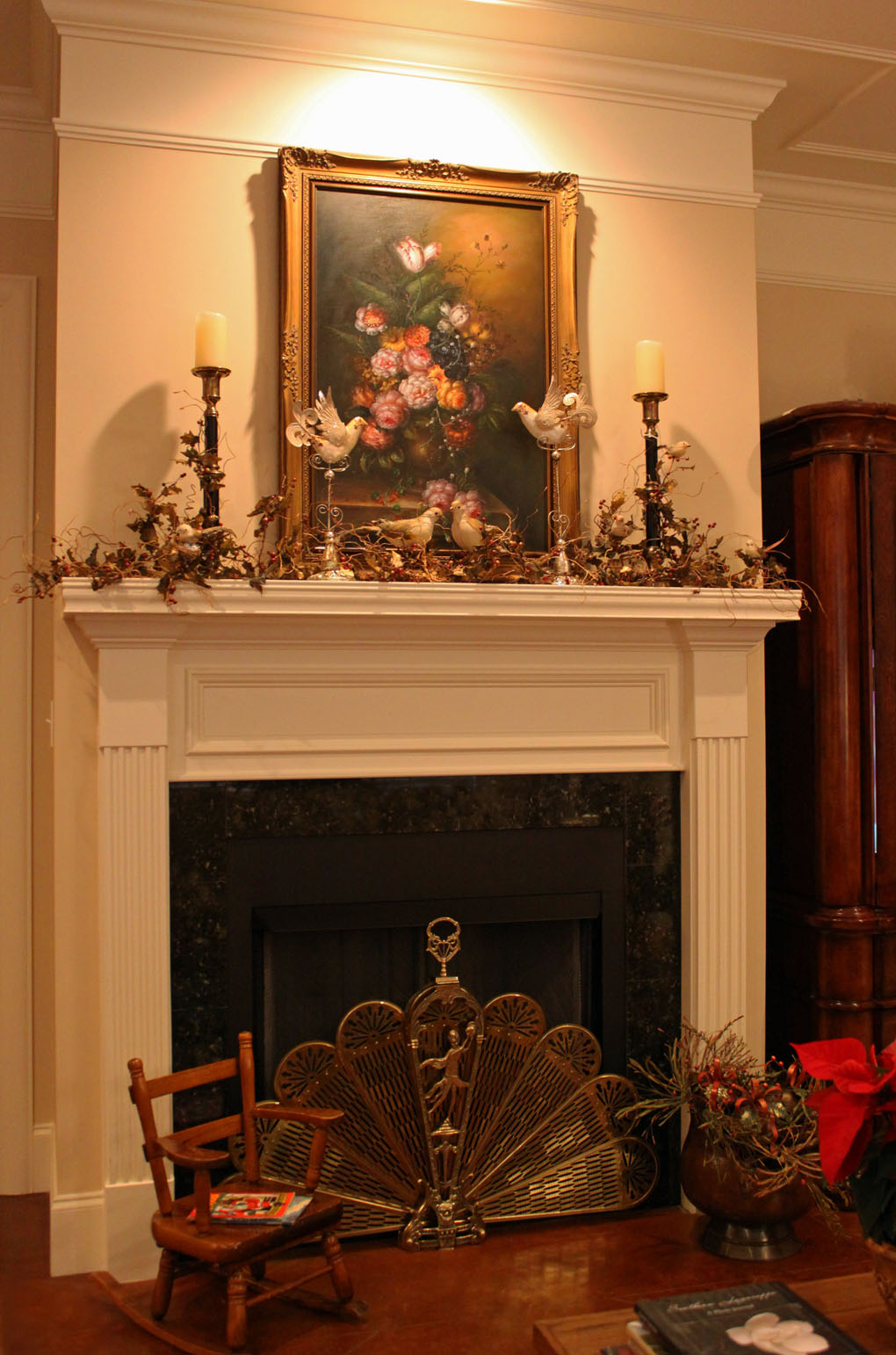 Southern Lagniappe Christmas Mantel Stage One