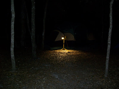 camping kelly park apopka florida night