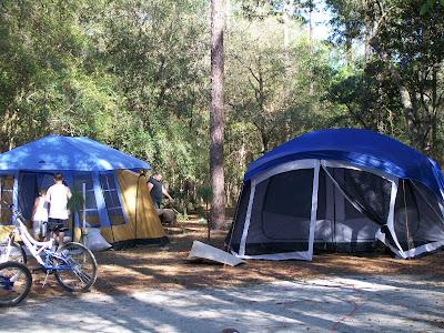 cheap camping vacation