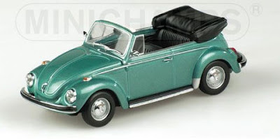 Diecast Toy Car  MINICHAMPS 1 43 VOLKSWAGEN 1302 BEETLE CABRIOLET