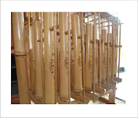Traditional Musical Instrument Made of Bamboo Frame