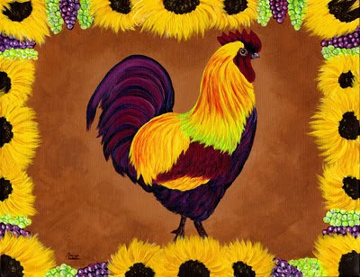 tuscany rooster   folk art