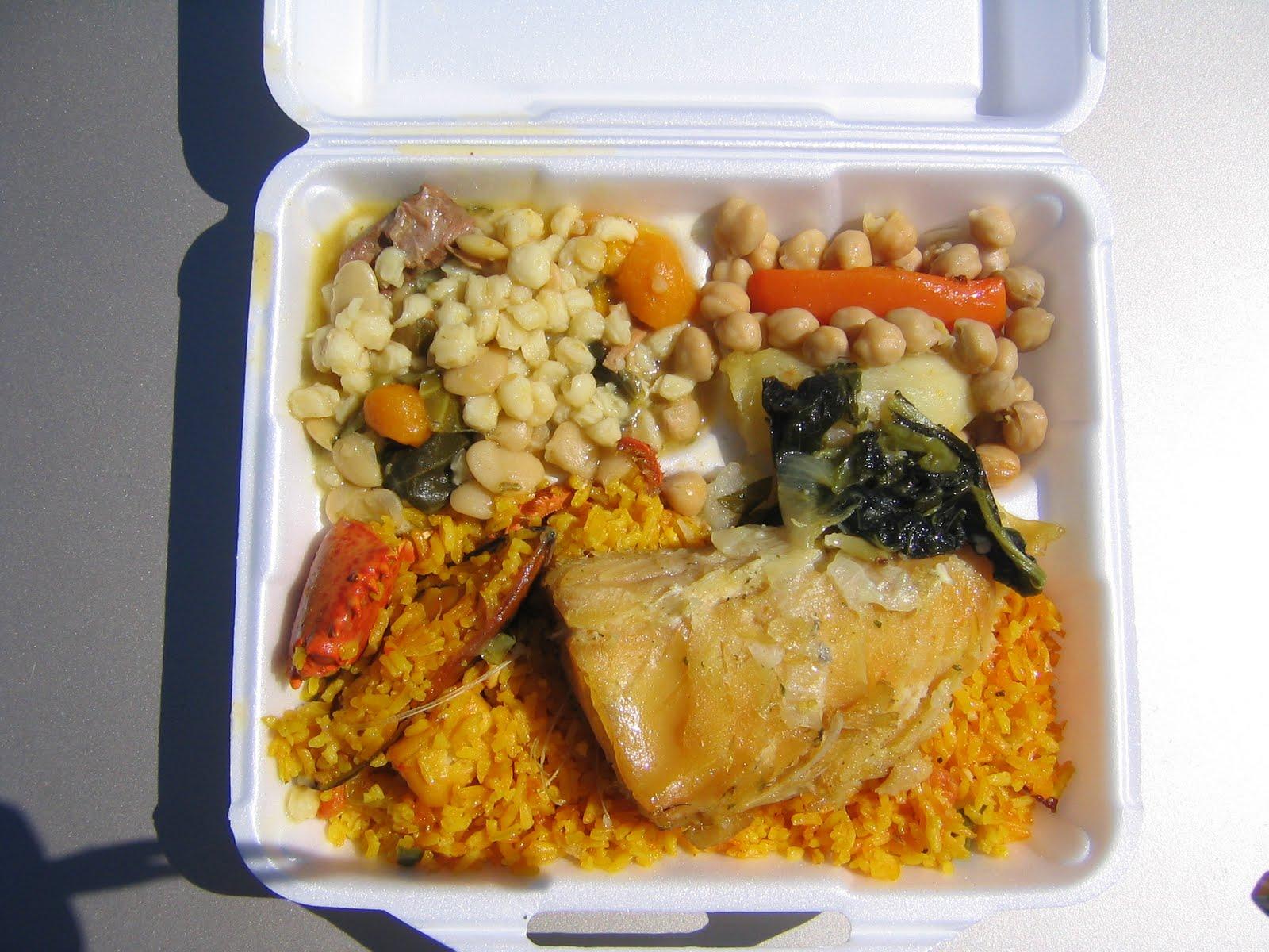 Bacalhau, Cachupa, Chickpeas, Seafood Rice