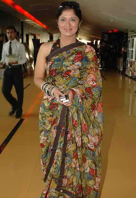 Sudha Chandran in floral sari