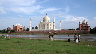 The Taj Mahal: view from the River Yamuna