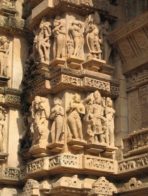Sculpture at Lakshman Temple, Khajuraho 4