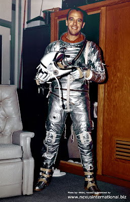 Alan B. Shepard before being launched into space