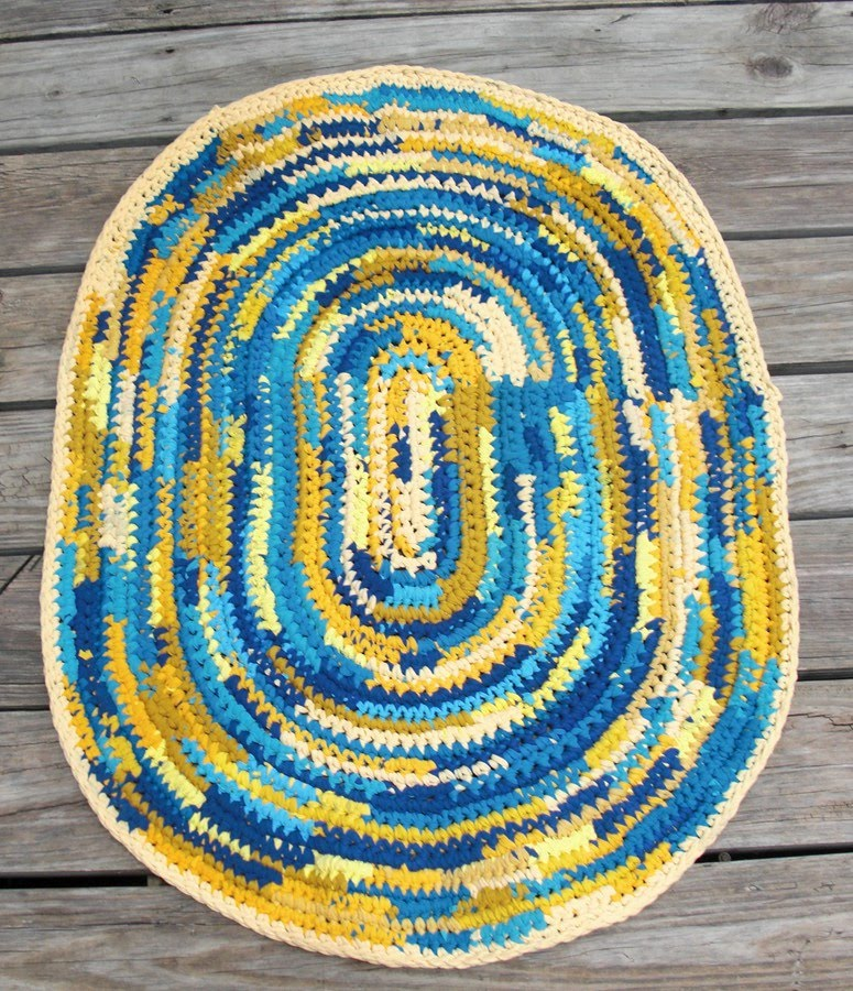 Free Crochet Pattern For Oval Rug : oval crochet rug pattern free image search results