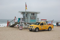 LA Lifeguard Beach Scene