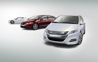 Honda Insight Concept with Honda FCX and Honda CR-Z
