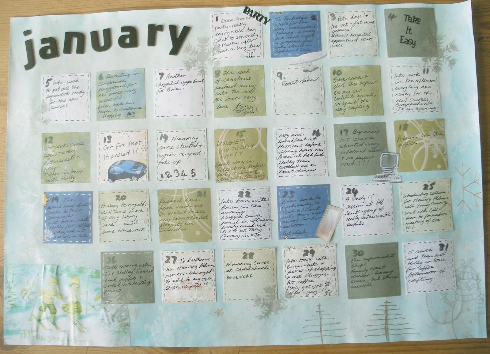 Calendar Art Journal : Scrappyjacky february art journal calendar