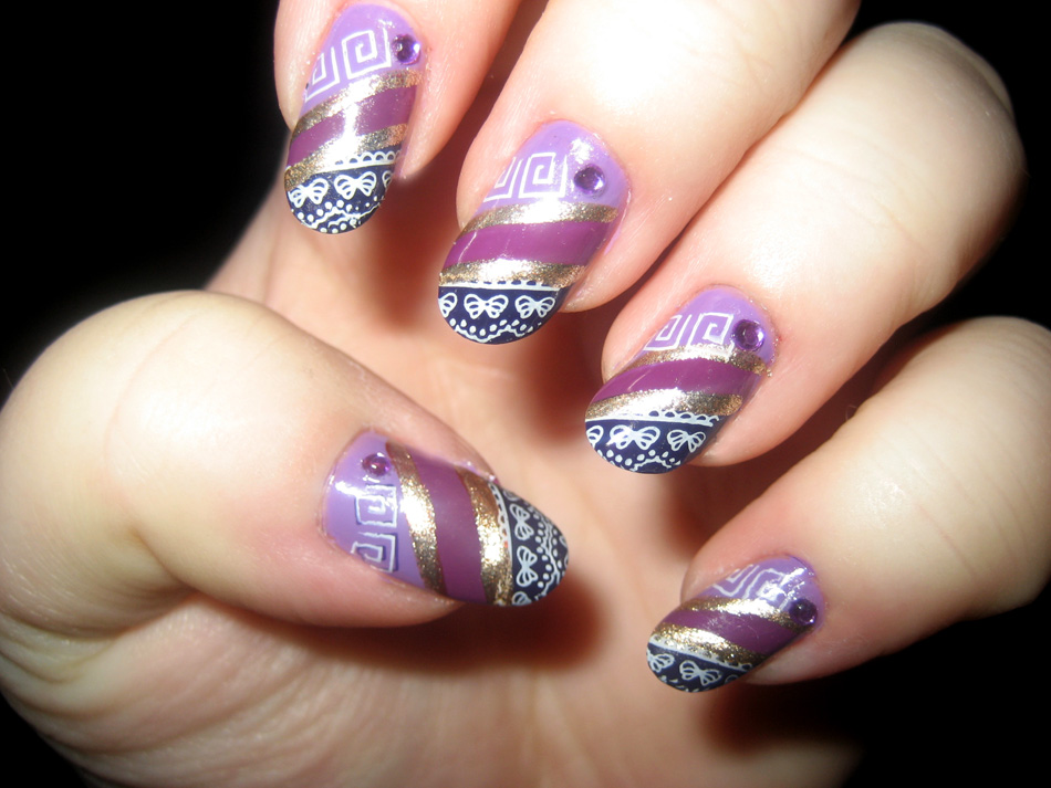 Nail Art World - gallery of nail design: Very busy , but beautiful Nails