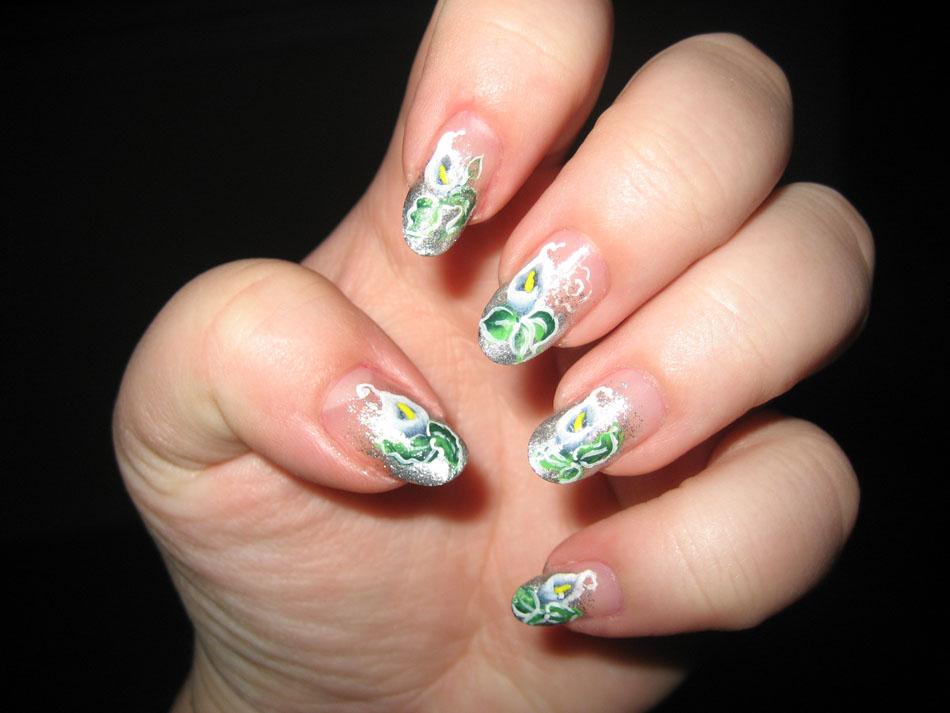 Nail Art World - gallery of nail design: Calla Lillies Manicure