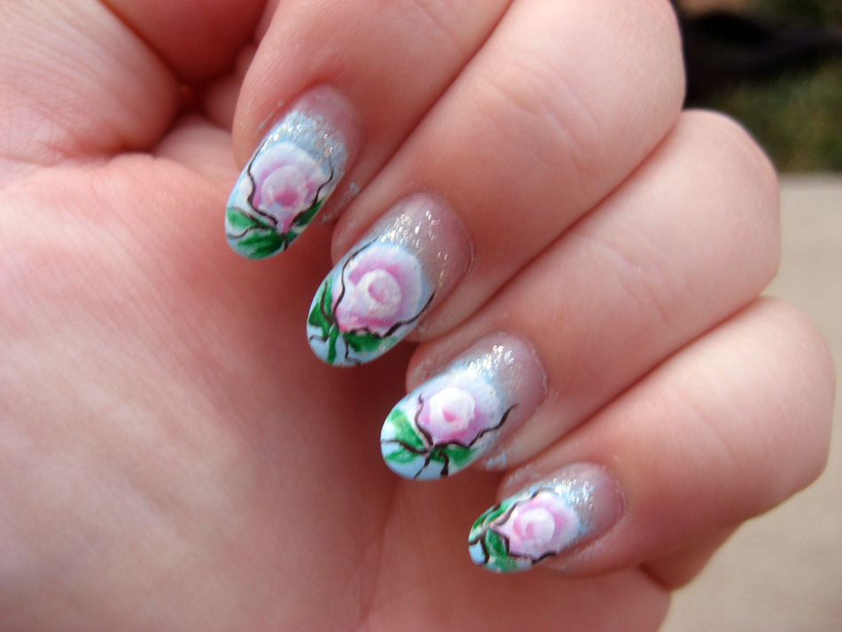 Nail Art World - gallery of nail design: One stroke preatyness