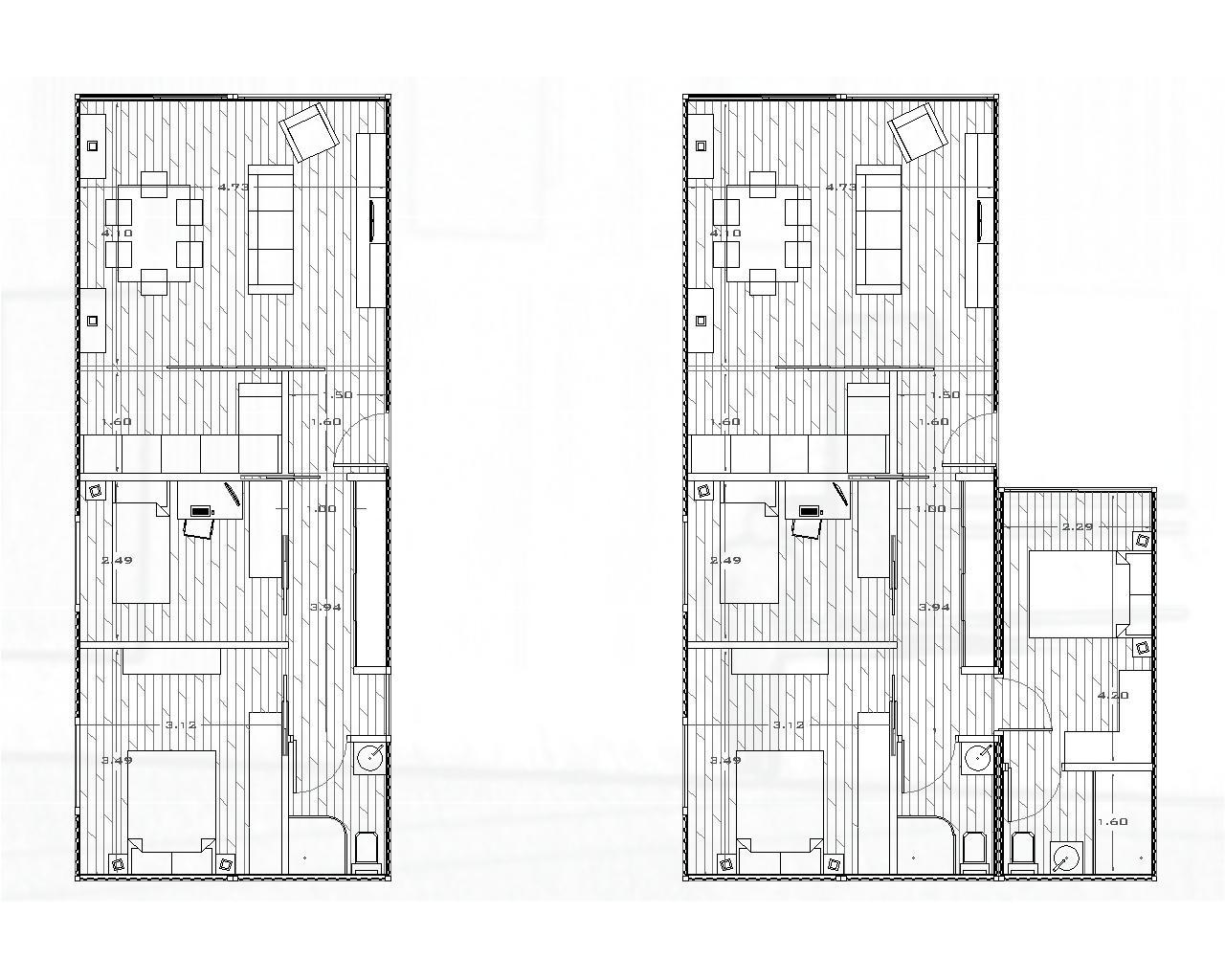 Tercera piel contenedores habitables modelo de vivienda - Contenedores maritimos para vivienda ...