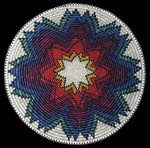 Navajo Fire Star Basket by Chris Johnson