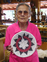 Navajo Basket Weaver Mary Holiday Black