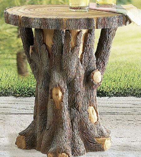 Whispered whimsy vintage nature furniture awesome for Stump furniture making