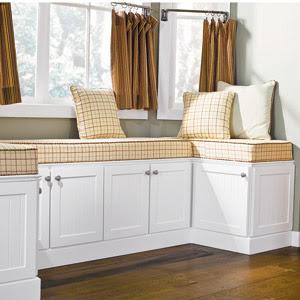 The Urban Un Martha Window Seat Using Stock Kitchen Cabinets