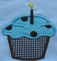 Boy cupcake