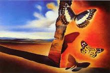 Paisaje con mariposas - Dalí