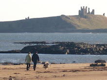 Dunstaburgh Castle from Embleton Beach Northumberland