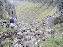 Descending into High Cup Nick in Cumbria