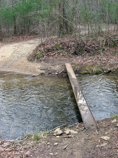 I-beam across stream