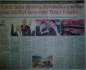 Piñera lanza ofensiva diplomática