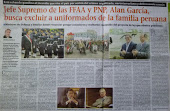 A las FFAA y PNP este gobierno le da como a Piñata...