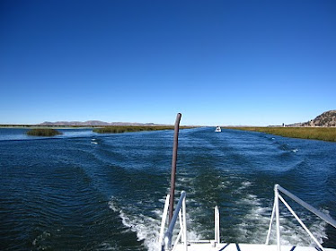 El Lago Titicaca.