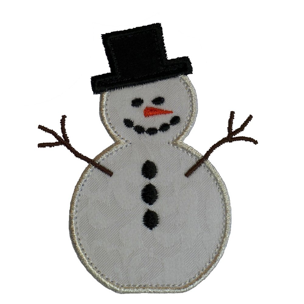 Big Dreams Embroidery: FROSTY THE SNOWMAN Machine Embroidery Applique ...