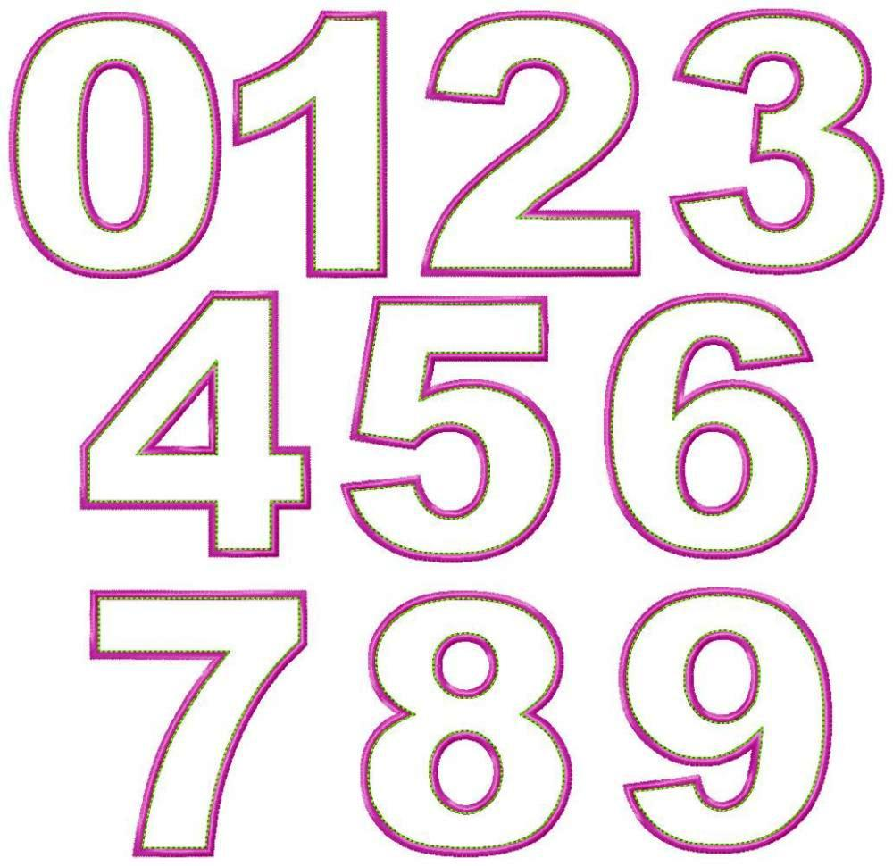 Machine Embroidery Numbers