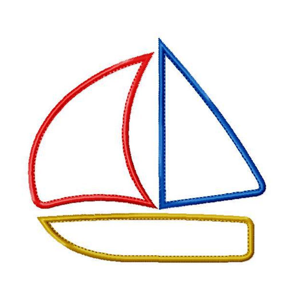 sailboat applique design alboat
