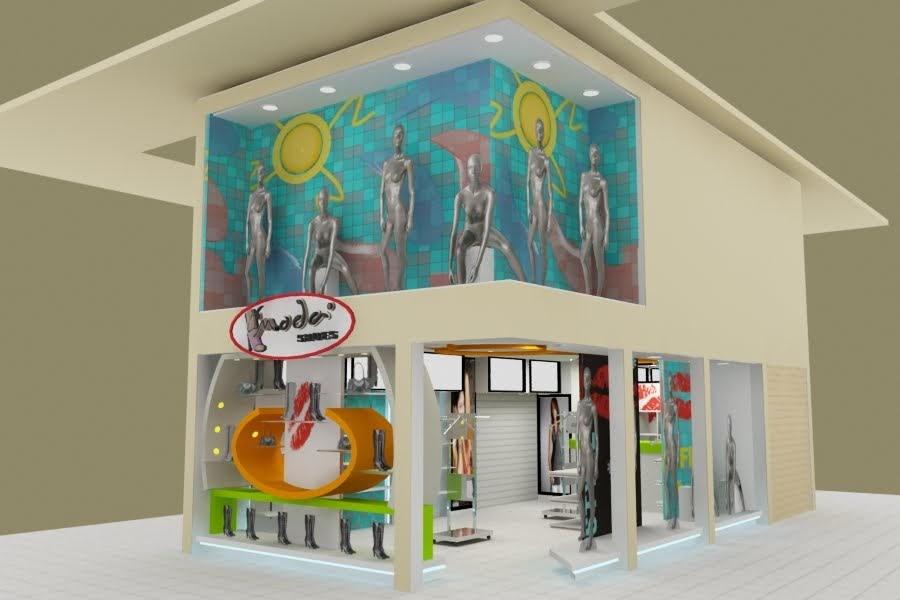 Dise o de locales comerciales boutique k moda mega plaza for Disenos para boutique