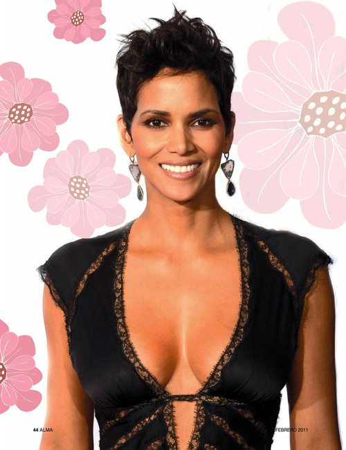 halle berry halle on cover of alma magazine. Black Bedroom Furniture Sets. Home Design Ideas