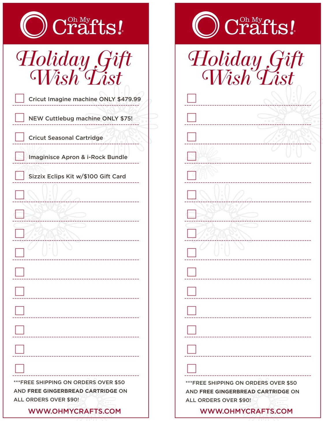 Oh My Crafts Blog: OMC Holiday Gift Wish List!