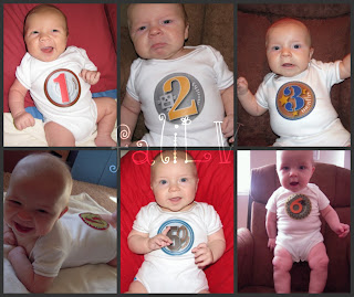 Baby Pictures, Monthly Baby Pictures, Sticky Numbers