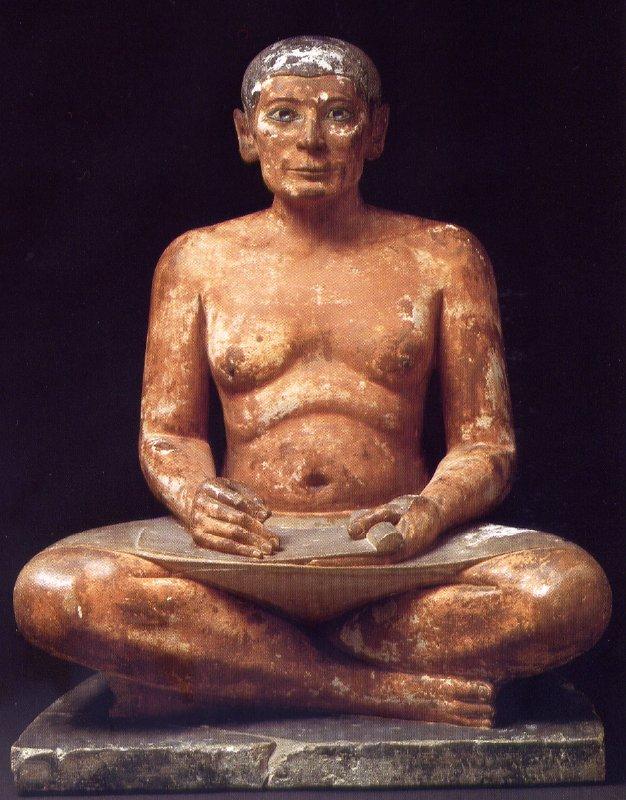 Figura egipcia vista en el taller de arteterapia